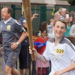 Rebecca Scott carriers the Torch