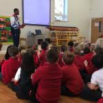 Launton Primary enjoy visit from Paralympian