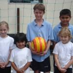 WORLD CUP FOOTBALL IN NORTH KIDLINGTON SCHOOL