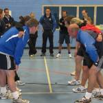 Secondary staff tackle rugby INSET