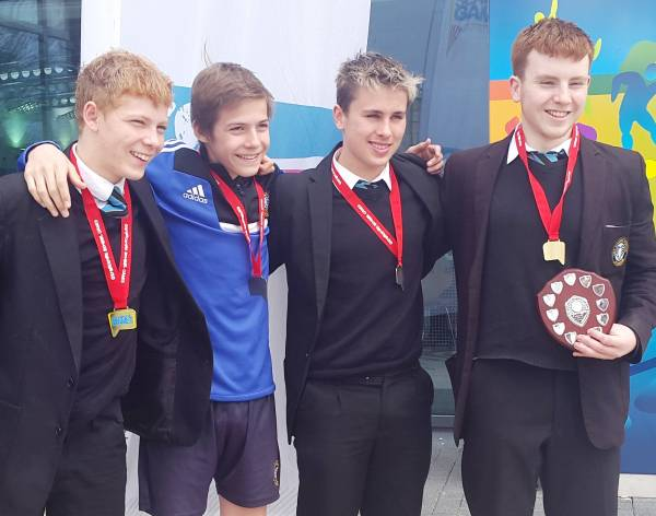 The Cooper School U16 Boys Swimming Gold Medals