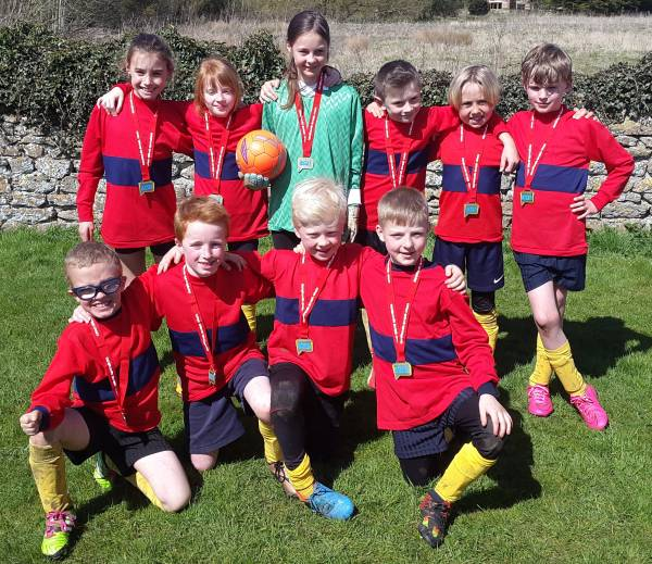 Sibford Gower Y3/4 Football Silver Medals